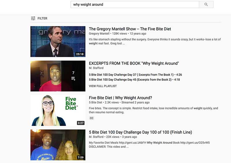 why weight around YouTube ranking